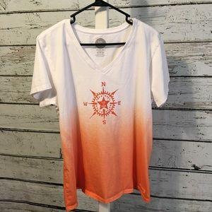 Life is Good Vneck T-shirt Size XL